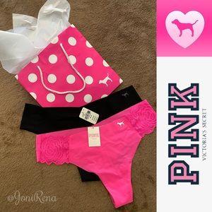 💖 PINK Victoria's Secret Thongs | BNWT! Sz. M 💖